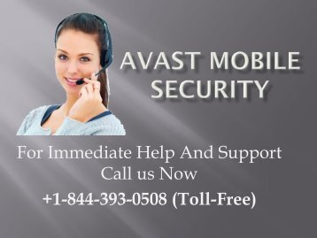 Avast Mobile Security +1-844-393-0508