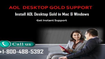 1-800-488-5392 Install AOL Desktop Gold in Mac & Windows