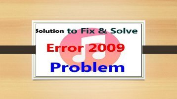 How to Fix iPhone Error 2009? Call 1-800-608-5461 Toll-Free