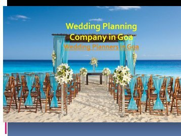 Wedding Planning Company in Goa