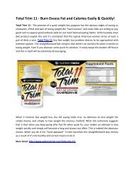 Total Trim 11 - Makes You Completely Fit & Fine!