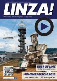 LINZA stadtmagazin Ausgabe #13 Juli-August 2018