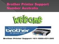 Brother Printer Support Number Australia