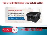 1-800-213-8289 Fix Brother Printer Error Code 50 and 5A