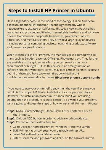 Install HP Printer on Ubuntu OS