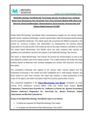 Rapid Microbiology Test Market – Strategic Assessment and Forecast Till 2025