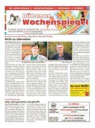 Dübener Wochenspiegel - Ausgabe 23 - 25-11_2015