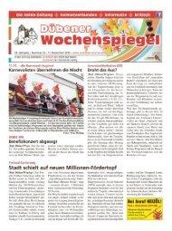 Dübener Wochenspiegel - Ausgabe 22 - 11-11_2015