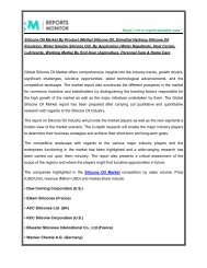 Know the Current Scenario and Insights of Silicone oil Market