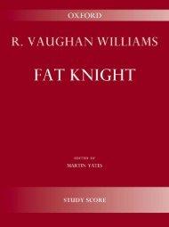 R. Vaughan Williams - Fat Knight
