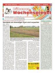 Dübener Wochenspiegel - Ausgabe 20 - 14-10_2015