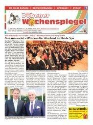 Dübener Wochenspiegel - Ausgabe 16 - 19-08_2015