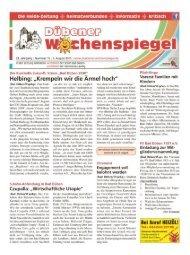 Dübener Wochenspiegel - Ausgabe 15 - 05-08_2015