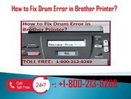 1-800-213-8289 Fix Drum Error in Brother Printer