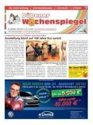 Dübener Wochenspiegel - Ausgabe 14 - 22-07_2015