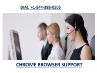 Chrome Tech Support Number  +1-844-393-0505