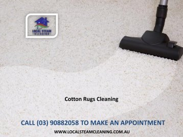Cotton Rugs Cleaning