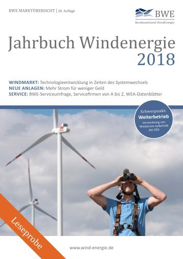 BWE Jahrbuch 2018 - Leseprobe