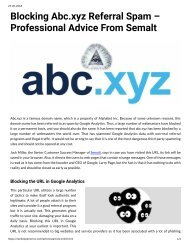 Blocking Abc.xyz Referral Spam – Professional Advice From Semalt