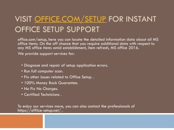 Office.com/Setup-Download,Install and Activate Office on computer