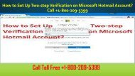 +1-800-209-5399  How to Set Up Two-step Verification on Microsoft Hotmail Account?