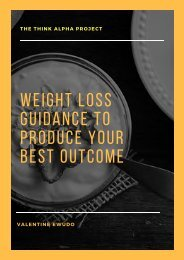 Weight Loss Guidance To Produce Your Best Outcome