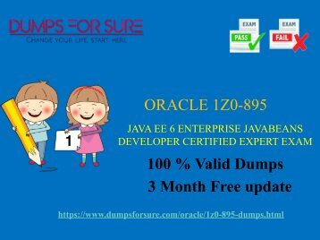 Oracle 1Z0-895 dumps