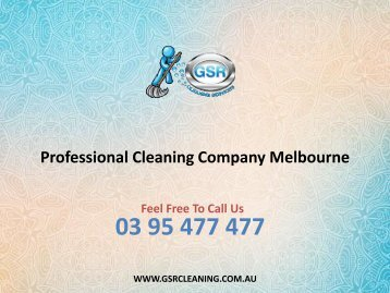 Professional Cleaning Company Melbourne