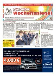 Dübener Wochenspiegel - Ausgabe 08 - 29-04_2015