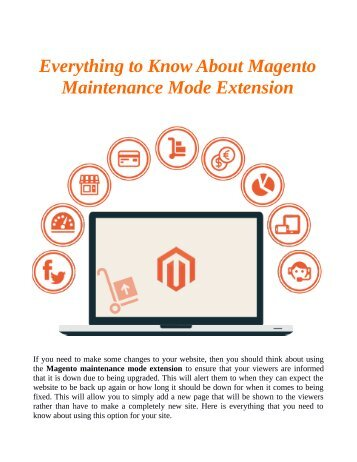 Everything to Know About Magento Maintenance Mode Extension