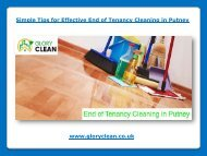 Effective End of Tenancy Cleaning in Putney