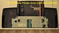 1-800-597-1052  How to Fix HP OfficeJet Printer Error Code 0x07a74dd6