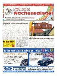 Dübener Wochenspiegel - Ausgabe 04 - 04-03_2015