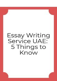 Essay Writing Service UAE: 5 Things to Know