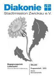 Programm Löwenzahn Mai-Juni 2012 - Stadtmission Zwickau e.V.