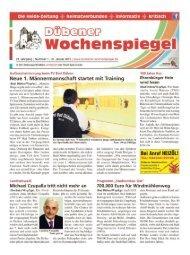 Dübener Wochenspiegel - Ausgabe 01 - 21-01_2015