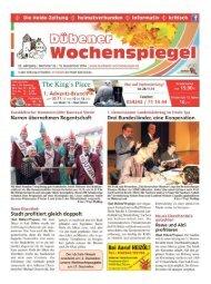 Dübener Wochenspiegel - Ausgabe 22 - 19-11_2014