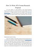 How to Write APA Format Research Proposal - Page 2