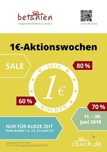 1€-Aktionswochen vom 11.-30. Juni 2018