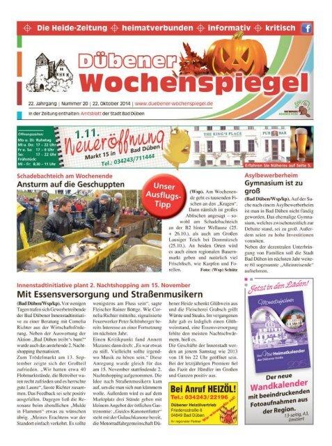 Dübener Wochenspiegel - Ausgabe 20 - 22-10_2014