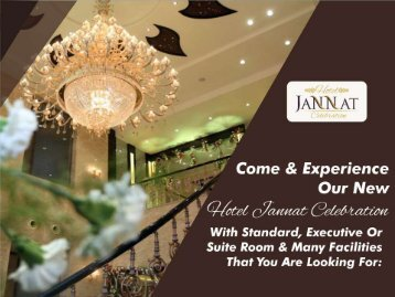 Online Hotel Bookings, Luxury Hotels in India-Hotel Jannat Celebration
