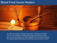 Best Comfortable Wood Fired Sauna Heaters