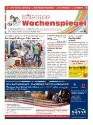 Dübener Wochenspiegel - Ausgabe 18 - 17-09_2014