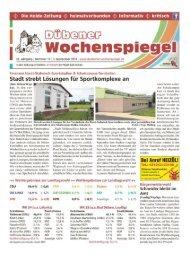 Dübener Wochenspiegel - Ausgabe 17 - 03-09_2014