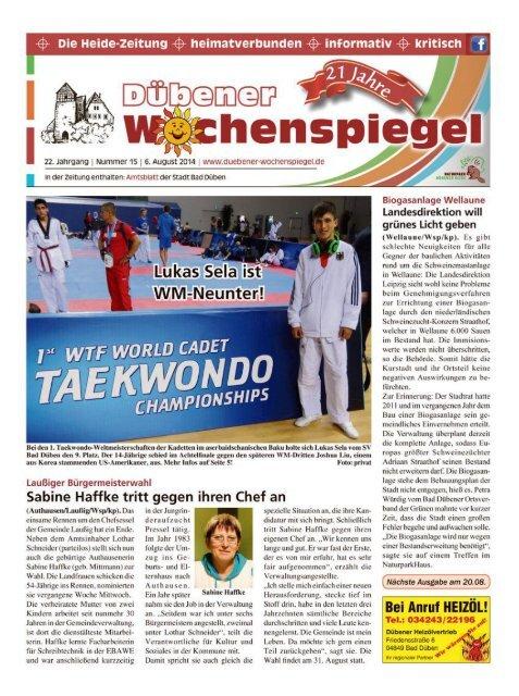 Dübener Wochenspiegel - Ausgabe 15 - 06-08_2014