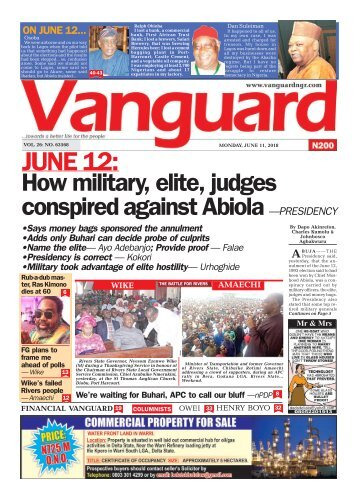 11062018 - JUNE 12 : How military elite judges conspired against Ablola