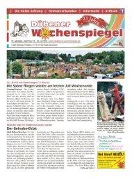 Dübener Wochenspiegel - Ausgabe 14 - 23-07_2014