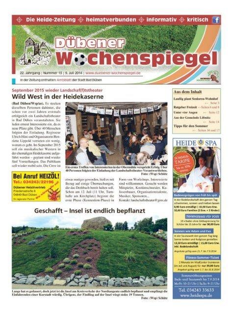 Dübener Wochenspiegel - Ausgabe 13 - 09-07_2014