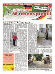 Dübener Wochenspiegel - Ausgabe 11 - 11-06_2014