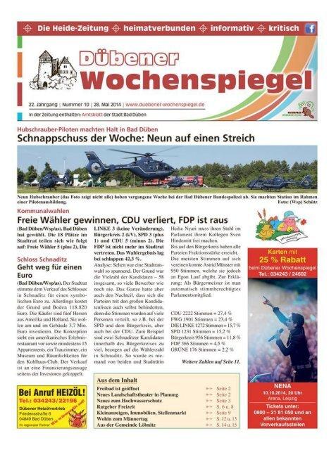 Dübener Wochenspiegel - Ausgabe 10 - 28-05_2014